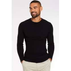 Quiz Black Ribbed Crew Neck Jumper found on Bargain Bro UK from Quiz Clothing