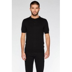 Quiz Black Knitted Polo Shirt found on Bargain Bro UK from Quiz Clothing