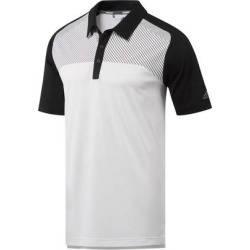 Adidas Men's Blocked Merch Short Sleeve Polo - White/Black 2X found on Bargain Bro India from golftown.com for $53.33