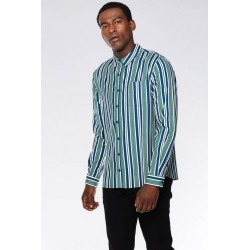 Quiz Green White & Blue Stripe Shirt found on Bargain Bro UK from Quiz Clothing