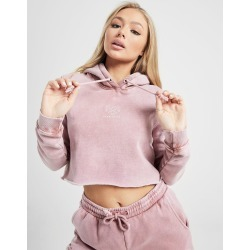 Pink Soda Sport Wash Crop Overhead Hoodie - Only at JD Australia - Pink