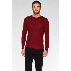 Quiz Burgundy Crew Neck Woven Jumper found on Bargain Bro UK from Quiz Clothing