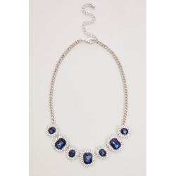 Quiz Navy Diamante Jewel Necklace found on Bargain Bro UK from Quiz Clothing