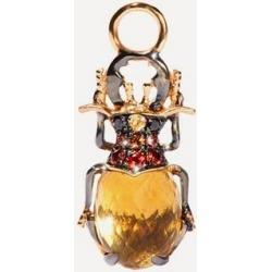 18ct Gold Mythology Citrine Beetle Single Earring Drop