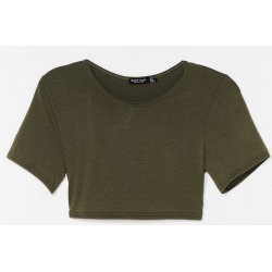 Womens Wait Up Crop Top - Khaki