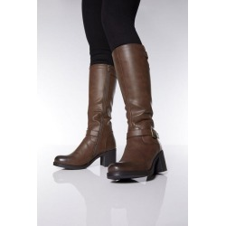 Quiz Brown Buckle Knee Boots found on Bargain Bro UK from Quiz Clothing
