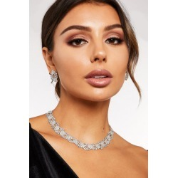 Quiz Silver Diamante Jewellery Set found on Bargain Bro UK from Quiz Clothing