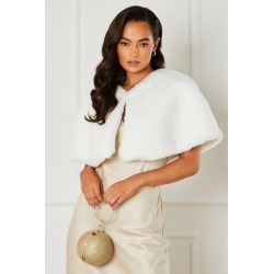 Quiz White Faux Fur Wrap found on Bargain Bro UK from Quiz Clothing