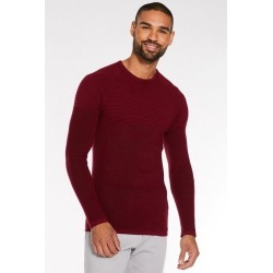Quiz Burgundy Ribbed Crew Neck Jumper found on Bargain Bro UK from Quiz Clothing