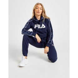 Fila Velour Panel Crop Hoodie - Only at JD Australia - Navy/White