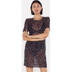 Star Mesh T-Shirt Dress found on MODAPINS from nasty gal limited for USD $15.00