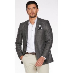 Quiz Mid Grey Plain Textured Blazer found on Bargain Bro UK from Quiz Clothing