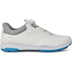 Ecco Mens Goretex Biom Hybird 3 Boa Spikeless Golf Shoe - White/Blue - M 44 found on Bargain Bro India from golftown.com for $207.79