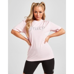 Juicy Couture Diamante Logo Boyfriend T-Shirt - Only at JD - Womens - Pink found on MODAPINS from JD Sports Malaysia for USD $58.59