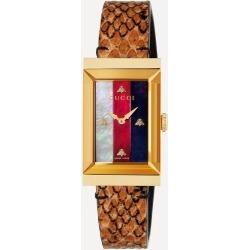 G-Frame Snakeskin Strap Watch