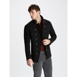 John Varvatos DOUBLE-BREASTED CUT AWAY JACKET found on MODAPINS from john varvatos dynamic for USD $1298.00