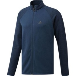 Adidas Men's Mid Weight Full Zip Heather Pullover - Blue L found on Bargain Bro India from golftown.com for $68.56