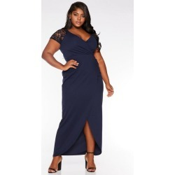 Quiz Curve Navy Cap Sleeve Wrap Maxi Dress found on Bargain Bro UK from Quiz Clothing