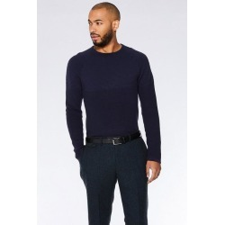 Quiz Navy Ribbed Crew Neck Jumper found on Bargain Bro UK from Quiz Clothing