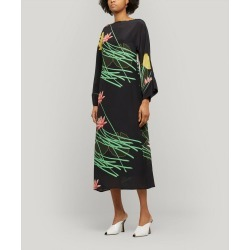 Lily Floral-Print Silk-Crepe Dress found on MODAPINS from Liberty London US for USD $325.00