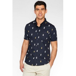 Quiz Navy Slim Fit Pineapple Print Shirt found on Bargain Bro UK from Quiz Clothing