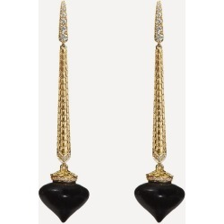 18ct Gold Touch Wood Ebony and Diamond Drop Earrings found on Bargain Bro UK from Liberty.co.uk