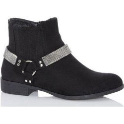Quiz Black Diamante Strap Western Ankle Boot found on Bargain Bro UK from Quiz Clothing