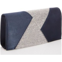 Quiz Navy Diamante Triangle Clutch Bag found on Bargain Bro UK from Quiz Clothing