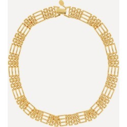 Gold-Plated 1970s Napier Watch Band Necklace