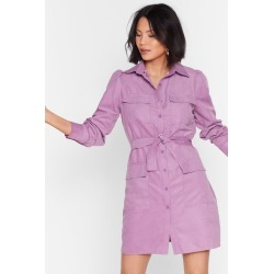 Womens Gonna Work It Out Utility Mini Dress - Lavender found on MODAPINS from nasty gal limited for USD $59.00