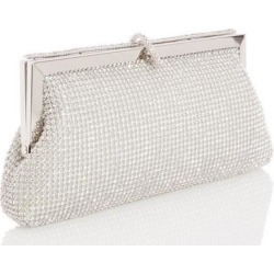 Quiz Silver Diamante Frame Purse Bag found on Bargain Bro UK from Quiz Clothing