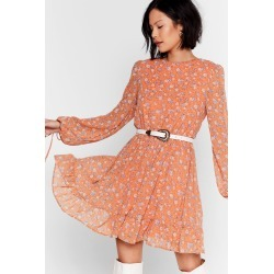 Womens You Swing Me Right Round Floral Mini Dress - Peach found on MODAPINS from nasty gal limited for USD $62.00