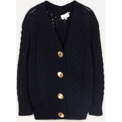 Oversized Cable-Knit Cardigan found on MODAPINS from Liberty.co.uk for USD $687.69