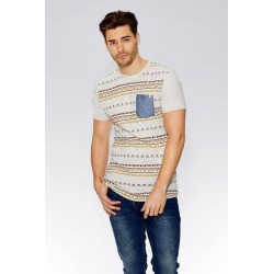 Quiz Beige Aztec Print T-Shirt found on Bargain Bro UK from Quiz Clothing