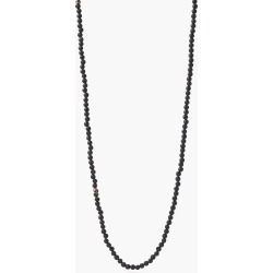 John Varvatos Beaded Lava & Brass Necklace Brume Blk Size: one size fits all