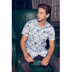 Quiz Navy And White Short Sleeve Floral Shirt found on Bargain Bro UK from Quiz Clothing