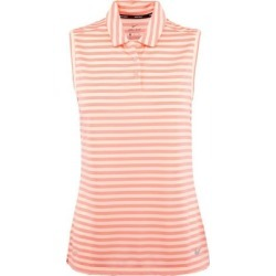 Nike Women's Dry Striped Sleeveless Polo  - White/BRPink S found on MODAPINS from golftown.com for USD $44.46