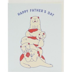 Dog Pile Father's Day Card found on Bargain Bro UK from Liberty.co.uk
