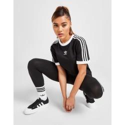 adidas Originals 3-Stripes Trefoil Boyfriend T-Shirt - Only at JD Australia - Black found on Bargain Bro India from JD Sports Australia for $45.74