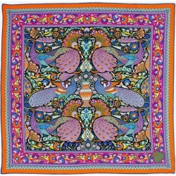 Liberty London Peacock Garden 70 X 70 Silk Twill Scarf found on Bargain Bro UK from Liberty.co.uk