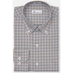 Peter Millar Men's Crown Ease Nantahala Microcheck Woven Long Sleeve Shirt - Blue L found on Bargain Bro India from golftown.com for $105.13