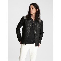 John Varvatos Chainmail Leather Jacket found on MODAPINS from john varvatos dynamic for USD $2498.00