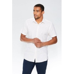 Quiz Stone Linen Short Sleeve Shirt found on Bargain Bro UK from Quiz Clothing