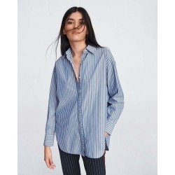 Rag & Bone - Alina Shirt - BLUE STRIPE - XS