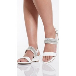 Quiz White Mini Wedge Sandals found on Bargain Bro UK from Quiz Clothing