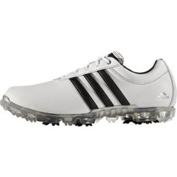 Adidas Men's Adipure Flex Spiked Golf Shoe - White/Black/Silver  - M 12 found on Bargain Bro India from golftown.com for $121.88