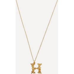 Gold-Plated Floral Letter H Alphabet Necklace found on Bargain Bro UK from Liberty.co.uk