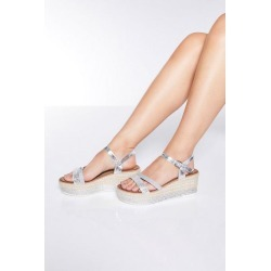 Quiz Silver Diamante Flatform Sandals found on Bargain Bro UK from Quiz Clothing