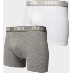 PUMA 2 Pack Boxers - Grey/White found on MODAPINS from JD Sports Australia for USD $17.95