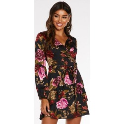 Quiz Multicoloured Satin Floral Print Wrap Dress found on Bargain Bro UK from Quiz Clothing